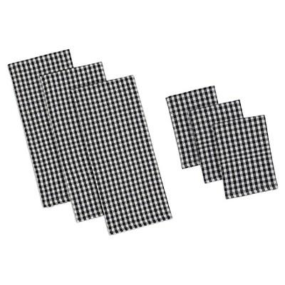 Check Heavyweight Dish towel dish cloth Set & (Set Of 3)- Design Imports