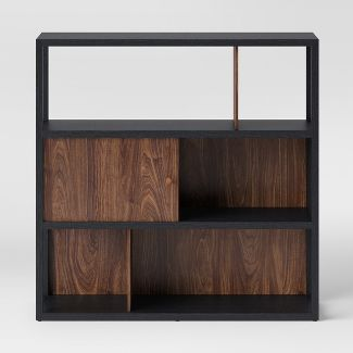 "49.8"" Siebert 3 Shelf Horizontal Bookcase Black - Project 62™"