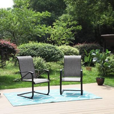 2pc Patio C-Spring Sling Chairs - Captiva Designs