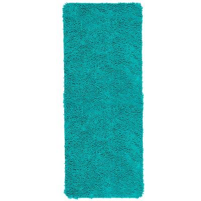 Solid Memory Foam Shag Bath Mat Seafoam - Yorkshire Home
