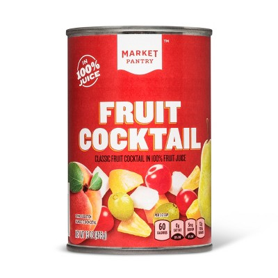 Fruit Cocktail In 100% Fruit Juice 15oz - Market Pantry™