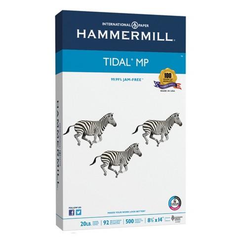 Hammermill® Tidal MP Copy Paper, 92 Brightness, 20lb, 8-1/2 x 14, White,  500 Sheets/Ream (162016)