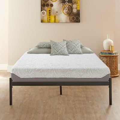 Ollie Sleek Silver Metal Platform Bed Frame   Eco Dream : Target