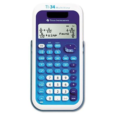 Texas Instruments TI-34 MultiView Scientific Calculator 16-Digit LCD TI34MULTIV