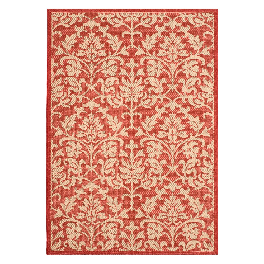 53X77 Rectangle Opole Patio Rug Red/Natural - Safavieh Discounts