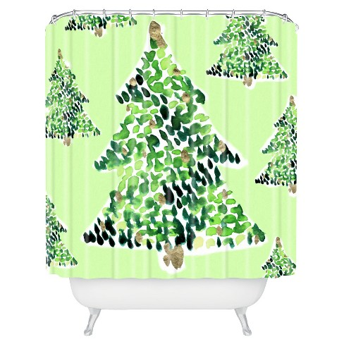 Cayenablanca Smells Like Christmas Shower Curtain - Deny Designs - image 1 of 4