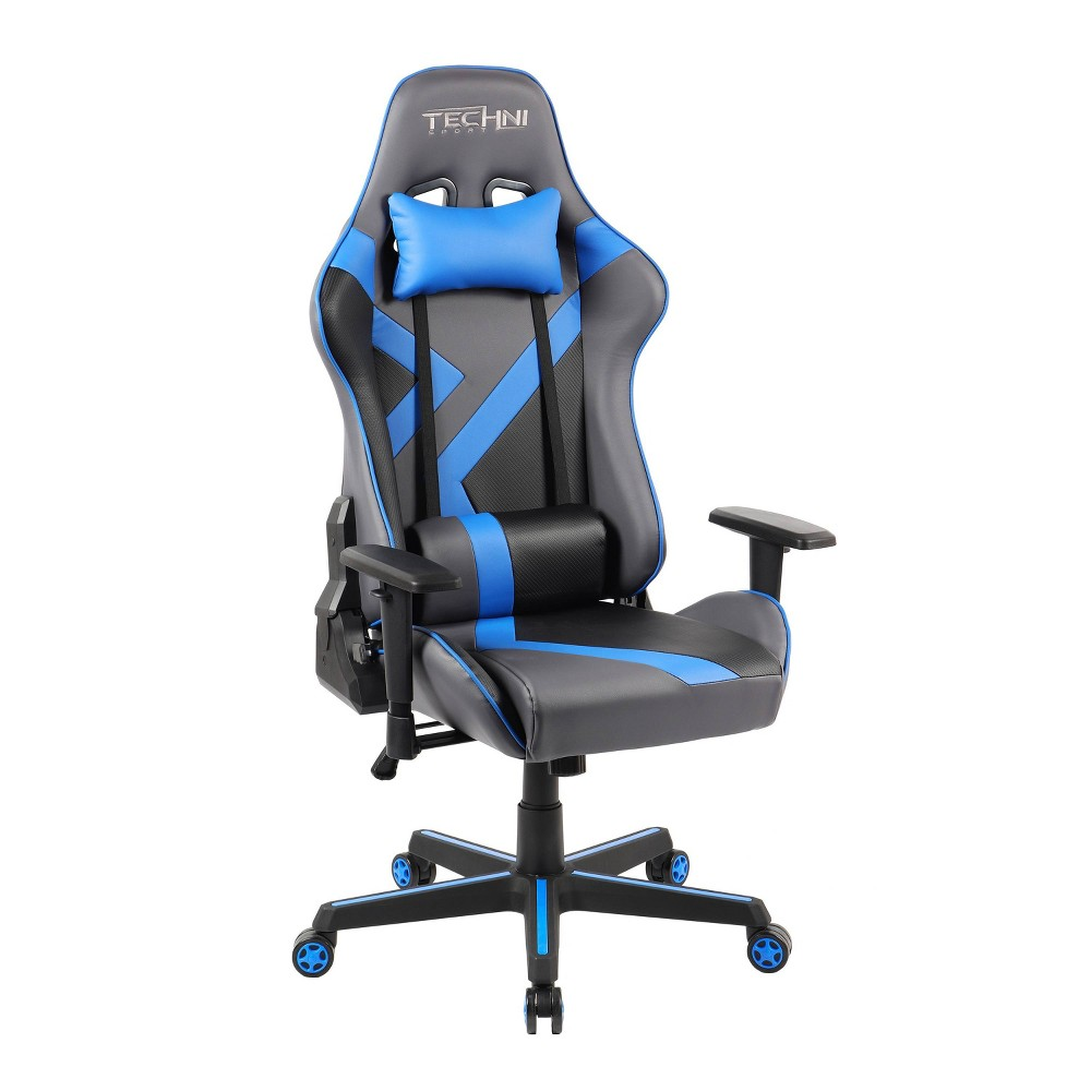 Image of Office PC Gaming Chair Blue - Techni Sport