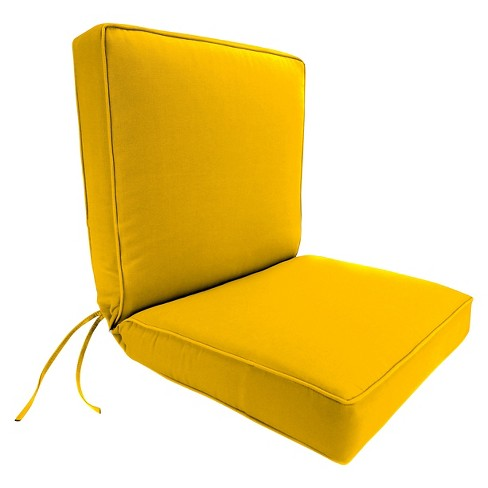 Jordan Boxed Edge Chair Cushion - Yellow - image 1 of 2