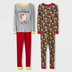 Boys' Harry Potter Gryffindor 4pc Pajama Set - Gray