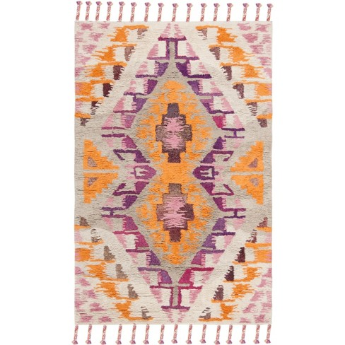 5 X8 Rectangle Wool Area Rug Off White