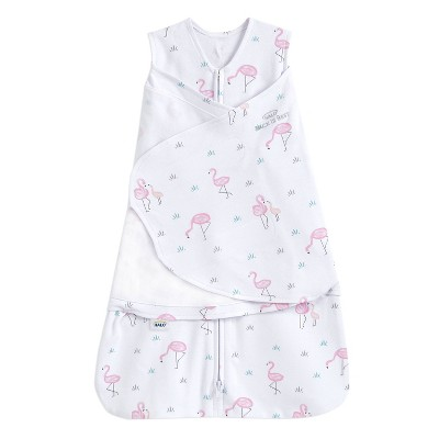 HALO Innovations Sleepsack 100% Cotton Swaddle Wrap Flamingos - Newborn