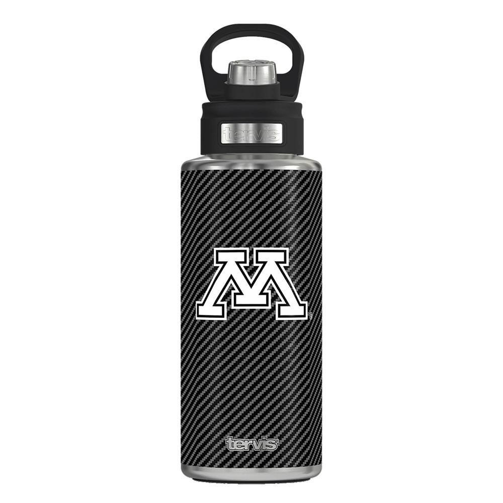 Ncaa Minnesota Golden Gophers 32oz Carbon Fiber Stainless Steel Water Bottle