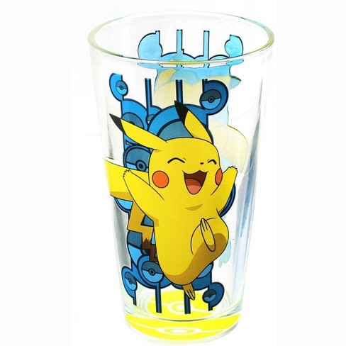 Just Funky Pokemon Pikachu Pokeball Bottom 16oz Pint Glass - image 1 of 1