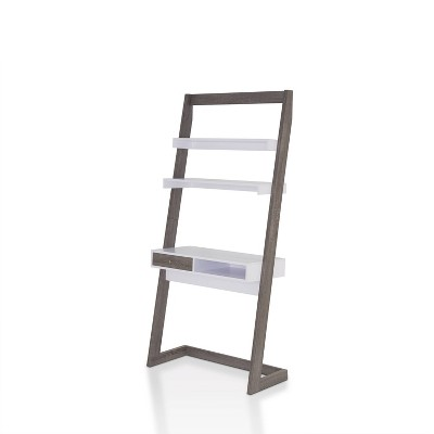 Ulrich Transitional Stand Up Desk Distressed Dark Gray/White - HOMES: Inside + Out