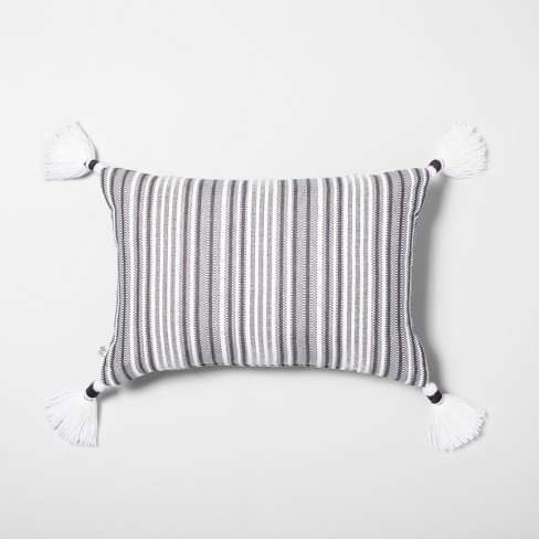 Throw Pillow Jet Gray / Black - Hearth & Hand™ with Magnolia - image 1 of 4