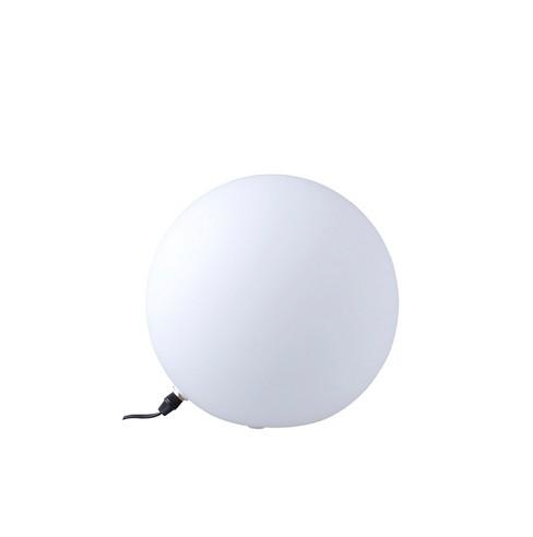 Large Glass Globe Table Lamp White Ore International Target