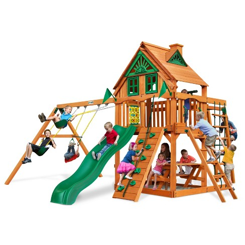 Gorilla Playsets Navigator Treehouse Swing Set with Amber Posts - image 1 of 4