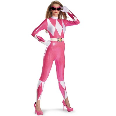 Power Rangers Mighty Morphin Pink Ranger Sassy Bodysuit Adult Costume