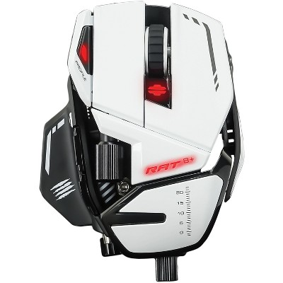 Mad Catz The Authentic R.A.T. 8+ Optical Gaming Mouse, White (MR05DCAMWH00)