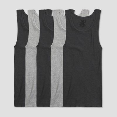 Fruit of the Loom Men's A-Shirt 5pk - Black/Gray
