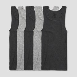 Fruit of the Loom Men's A-Shirt 5pk - Black/Gray