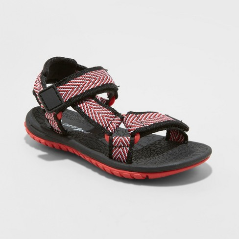 Toddler Boys' Teddy Hiking Sandals - Cat & Jack™ Red - image 1 of 3