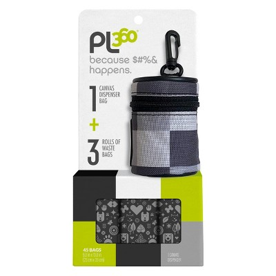 PL360 Waste Bag Dispenser & Bag Set for Dogs - 45ct