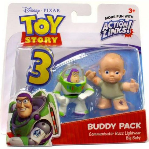 Toy Story 3 Action Links Buddy Pack Communicator Buzz Lightyear and Big Baby Mini Figure 2-Pack - image 1 of 2