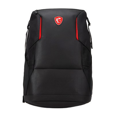 "MSI Urban Raider Gaming Backpack Black - Fits up to 17"" Laptops - Rated IPX2 for water resistance - Lightweight polyester exterior"
