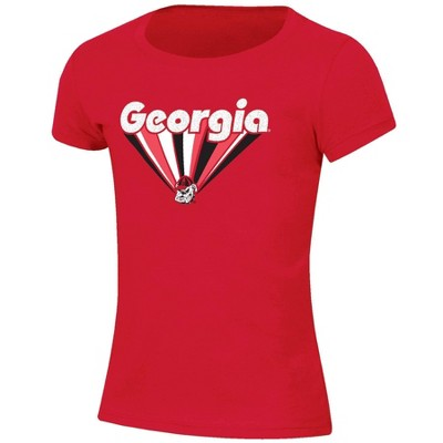NCAA Georgia Bulldogs Girls' Short Sleeve Scoop Neck T-Shirt