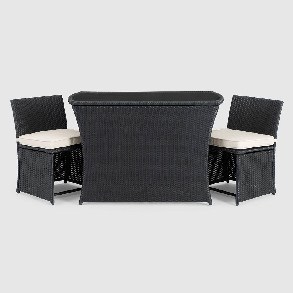 Image of Exum 3pc Patio Café Set - Black - Sego Lily