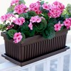 HC Companies 24 Inch Long Fluted Plastic Venetian Garden Window Container Planter Box for Indoor or Outdoor Flowers, Vegetables, or Succulents (Clay) - image 2 of 2