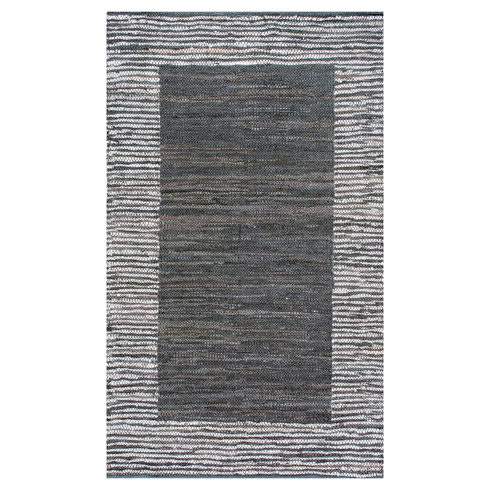 Sterling Gray Solid Woven Runner 2 6 X8 Nuloom