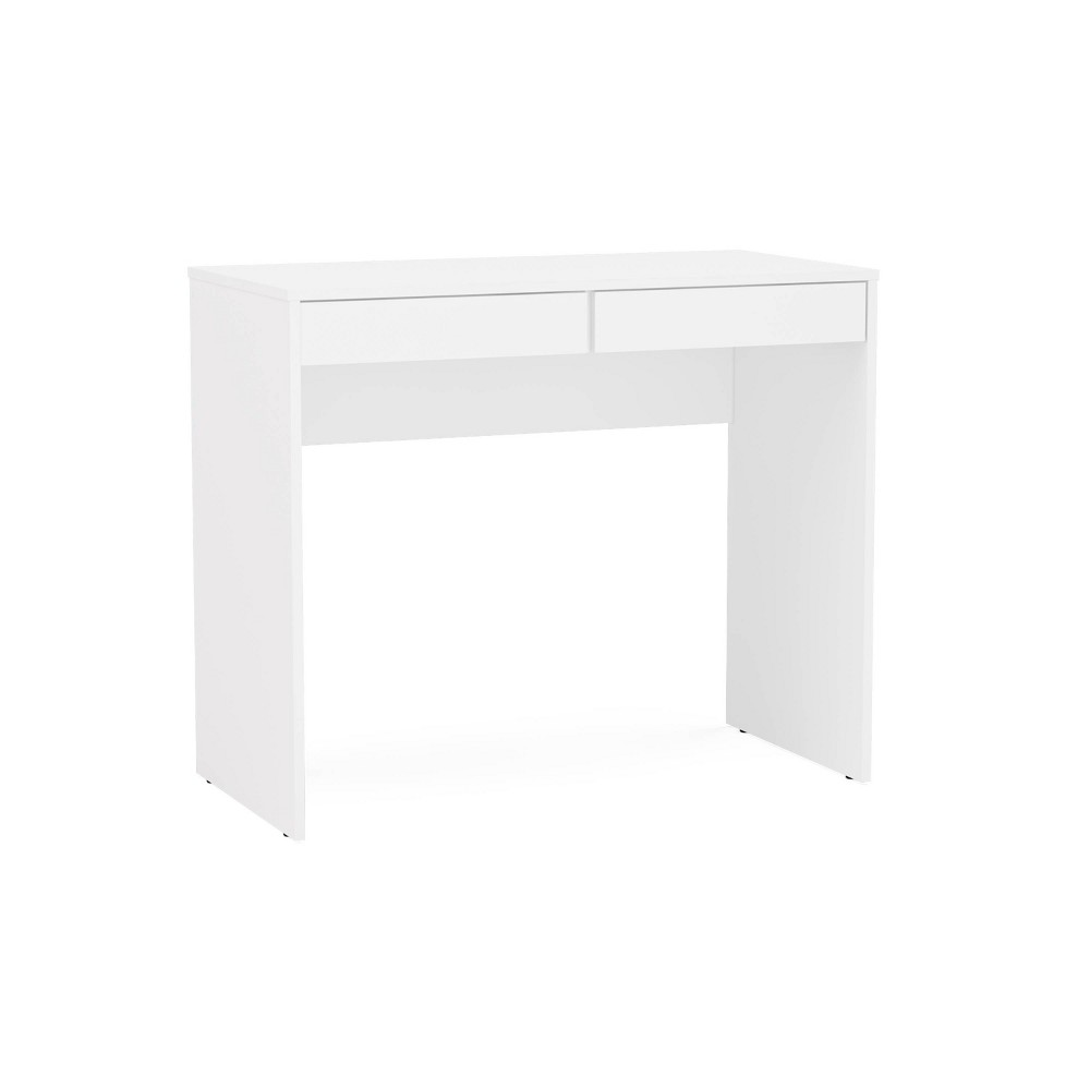 Image of Crimson 2 Drawer Compact Student Desk White - Chique
