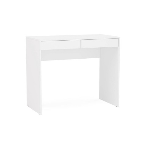 Crimson 2 Drawer Compact Student Desk White - Chique - image 1 of 4