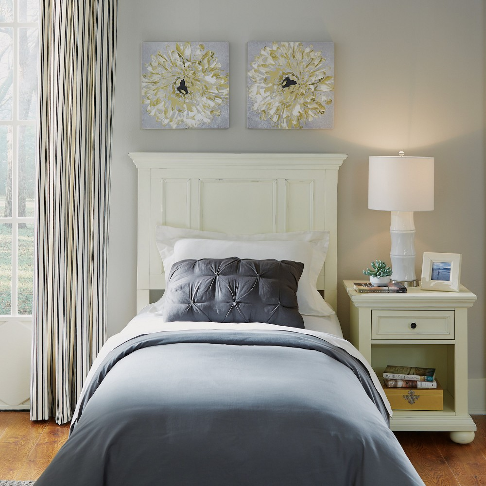 Image of Home Styles Twin Dover Headboard & Night Stand White