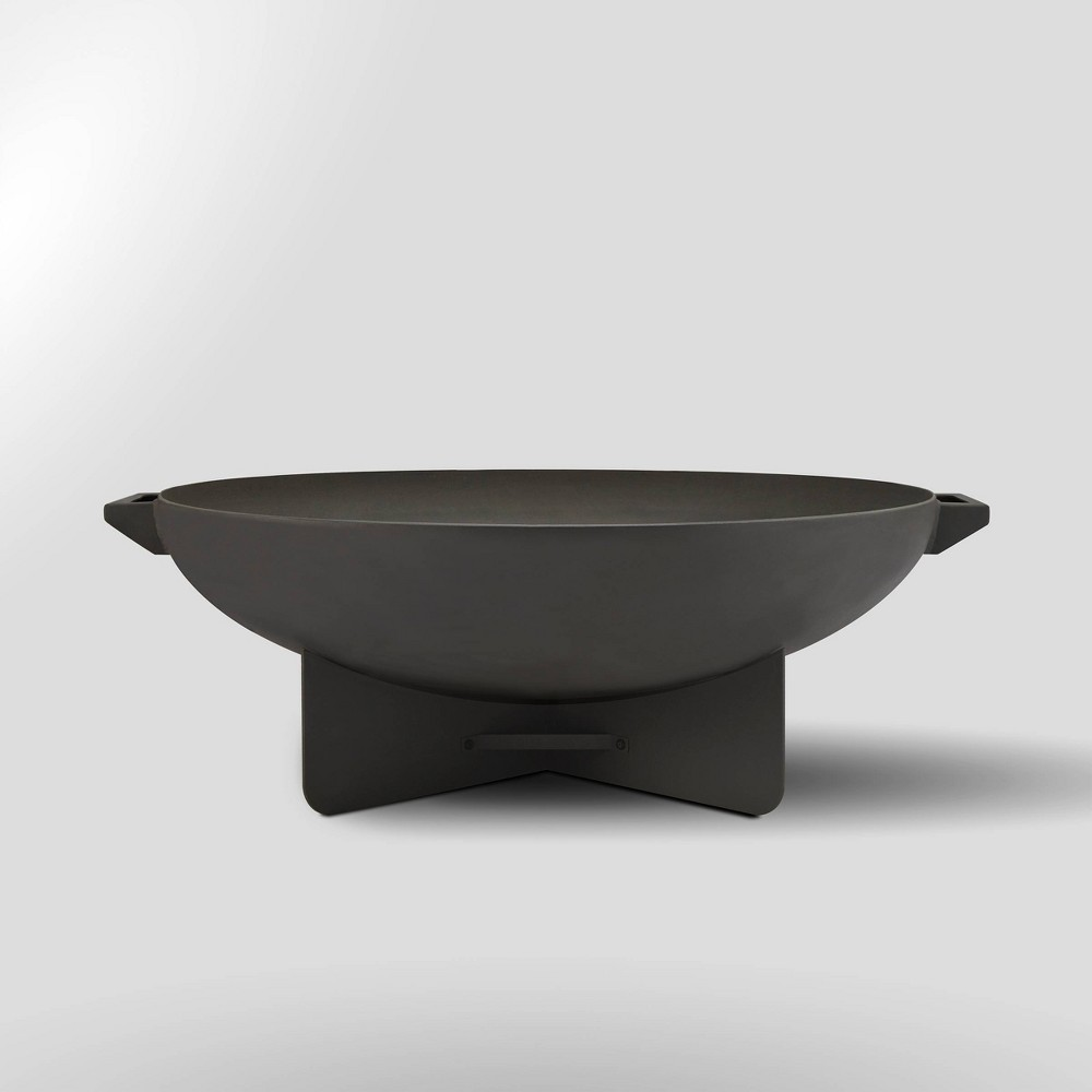 Anson Wood Burning Fire Bowl Gray - Real Flame