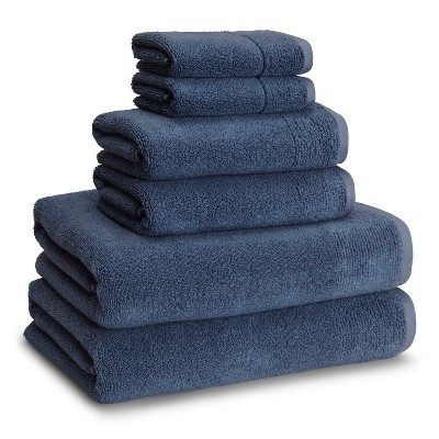 Kyoto Towels Ink Blue Set of 6 - Kassatex