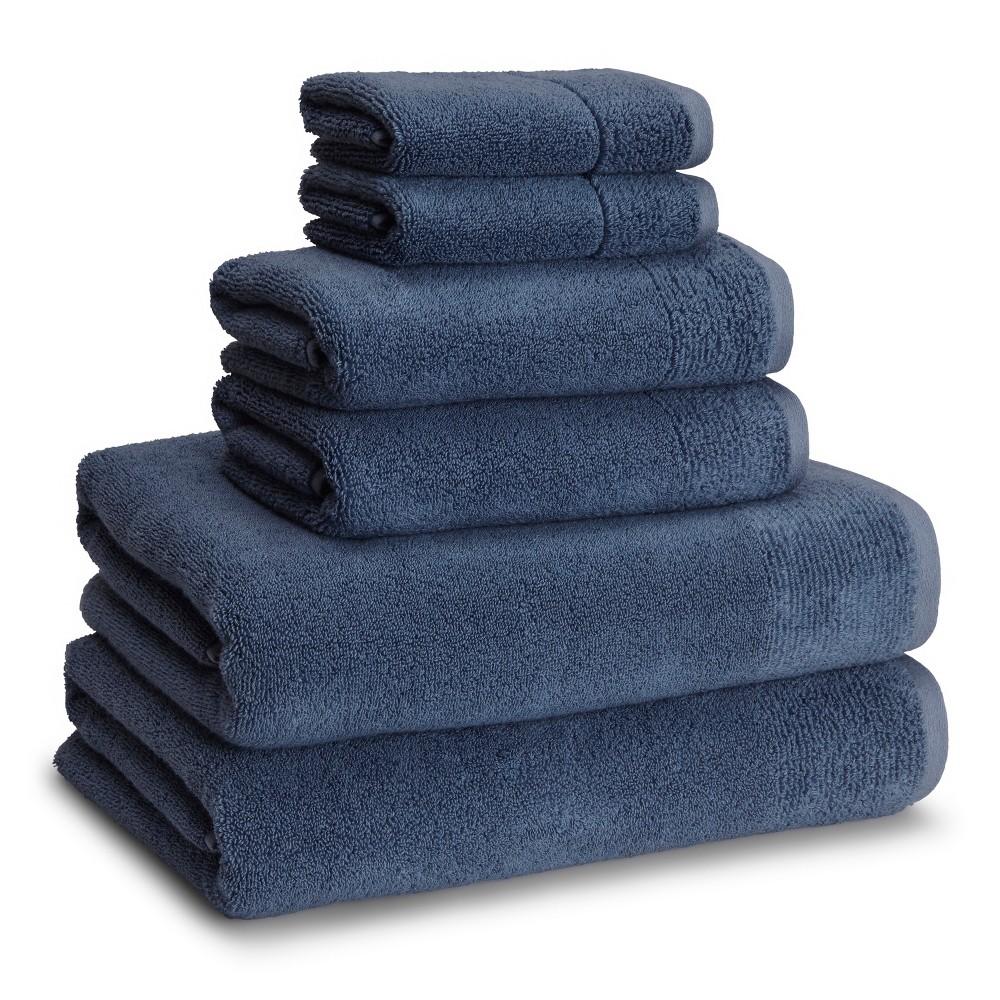 Image of 6pc Osaka Towel Set Ink Blue - Cassadecor, Indi Blue
