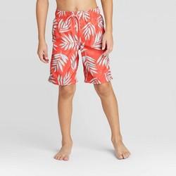 Boys' Mutli Color Firm Leaf Swim Trunks - Cat & Jack™ Coral