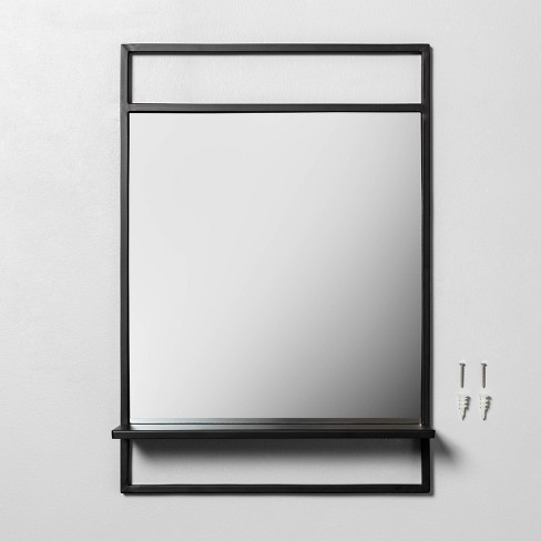 Bath Mirror with Shelf Black - Hearth & Hand™ with Magnolia - image 1 of 2