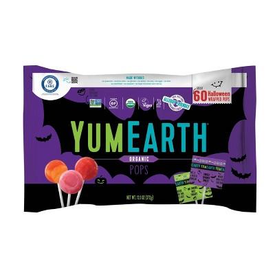 Yum Earth Halloween Organic Fruit Pops -13.1oz/60ct