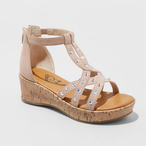 f36a6a099672 Girls  Ashlynn Wedge Sandals - Art Class™   Target