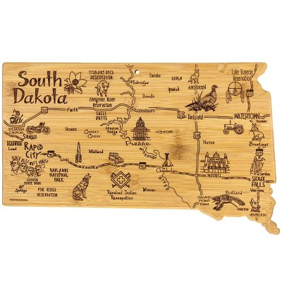 Totally Bamboo Destination South Dakota Serving and Cutting Board