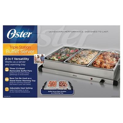 oster triple warming tray buffet server ckstbstw00 target rh target com oster buffet warming tray