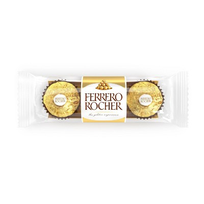 Ferrero Rocher Fine Hazelnut Chocolates - 1.3oz/3ct