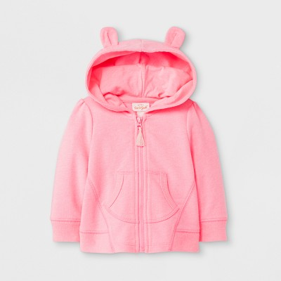 Baby Girls' Sweatshirt - Cat & Jack™ Pink Newborn
