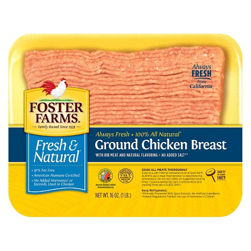Foster Farms Ground Chicken Breast -16oz - image 1 of 1