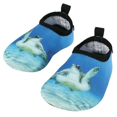 Hudson Baby Infant, Toddler, Kids and Adult Water Shoes for Sports, Yoga, Beach and Outdoors, Sea Turtle