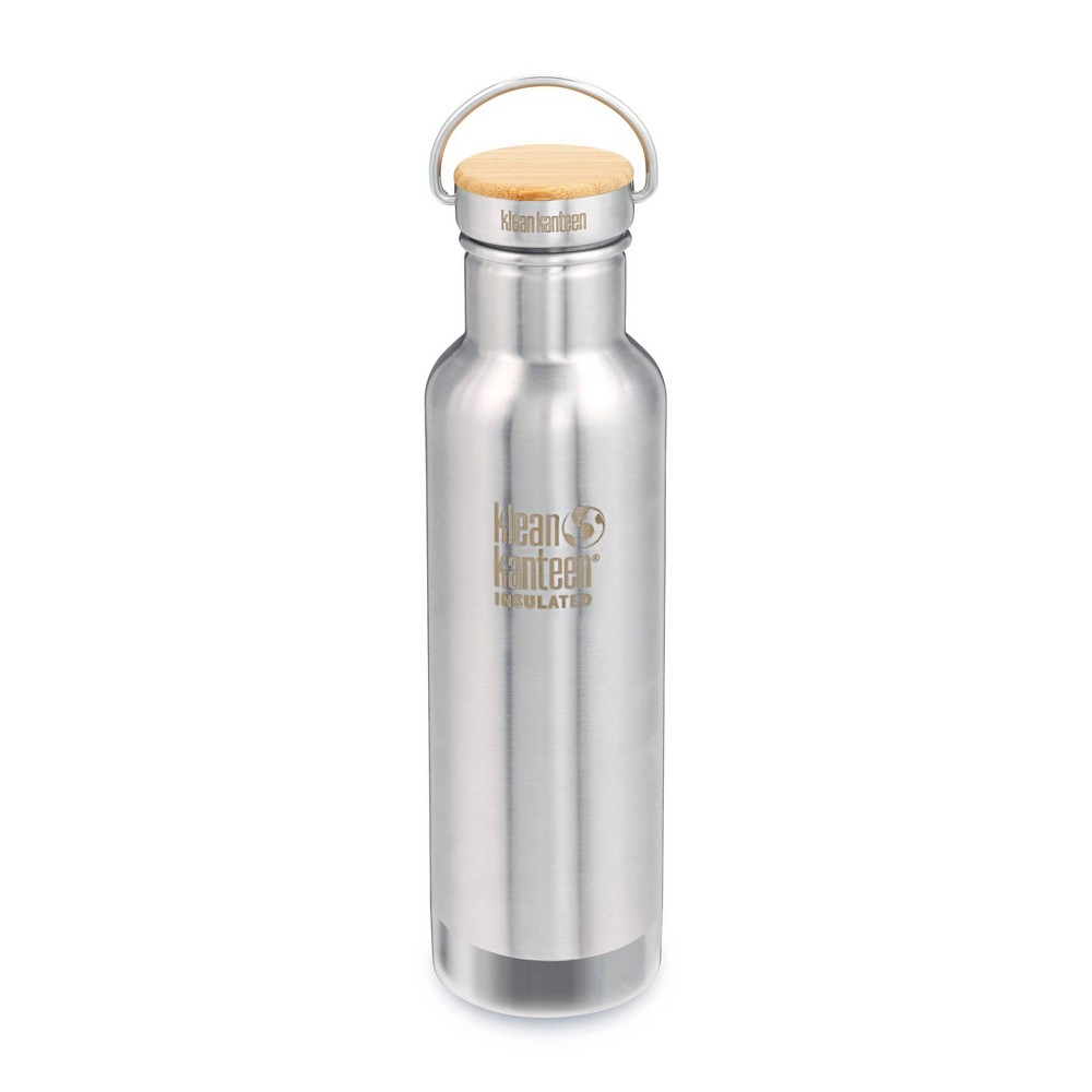 Klean Kanteen 20oz Classic Insulated Reflect With Bamboo Cap Brushed Stainless